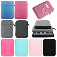 """For 9.6"""" 9.7"""" 10.1"""" 10.8"""" Tablet PC Soft Zipper Sleeve Bag Case Pouch Cover"""