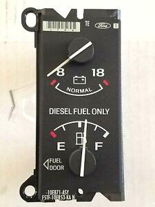 92-96 Ford Truck Diesel Fuel Gauge F250 F350 Pickup Voltage DIESEL FUEL ONLY OEM