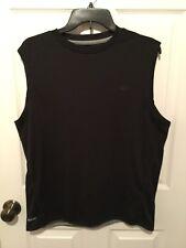 Mens Starter Black Dri-Star Active Muscle Wicking Sleeveless Shirt Size Small