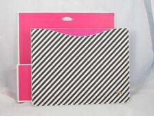 Juicy Couture Black White Diagonal Stripe Tablet I Pad Sleeve YTRYT205 $48