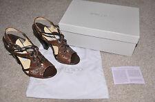 JIMMY CHOO ladies heels Evita Ostrich Leg RRP£550 (EUR36, UK3) NEW in BOX