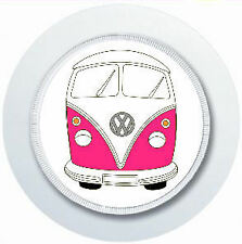 PINK VW CAMPER VAN CAR TAX DISC HOLDER REUSABLE PARKING PERMIT HOLDER