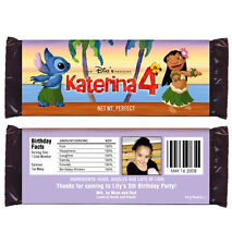 12 Lilo and Stitch Birthday Party Favor Personalized Candy Wrappers