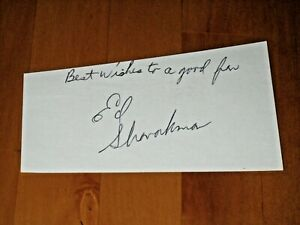 Ed Sharockman signed Minnesota Vikings Index Card Cut JSA