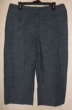 "NWOT WOMENS apt.9 stretch ""Maxwell"" DARK GRAY CAPRIS  SIZE 16"
