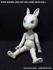 "JunkySpot Hujoo Light Grey "" NANO Rabbit ""  Bunny 12cm ABS Anthro BJD Doll USA"
