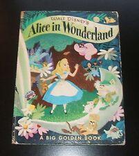 ALICE IN WONDERLAND by Lewis Carroll, 1978 Big Golden Book, Walt Disney, Illust.