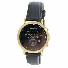 Bering Men's Wristwatch Slim Classic Chronograph - 10540-408-1 Black Leather
