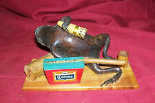Taxidermy Drunk Frog Corona Beer Advertisement Sign Taxidermied Toad Old Small