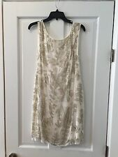 Alice & Olivia White Sequin Cocktail Dress Size 10