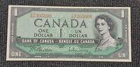 Canada 1954 Beattie Rasminsky BC-37b $1.00 Banknote FN 7305006 UNC