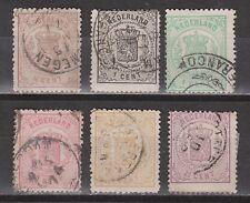 NVPH 13-18 Nederland Netherlands 13 14 15 16 17 18 used 1869 Wapenzegels