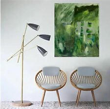Green Abstract Painting, Acrylic On Canvas,Modern Art, Hand-painted WALL Decor
