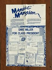 Maniac Mansion NES Nintendo Poster Map Only