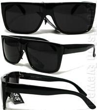 Gangster Flat Top Square Sunglasses OG LOC Style Super Dark Black K60SD