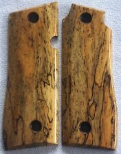 1911 COLT GRIPS 4 Government .380 SPALTED WOOD x-1