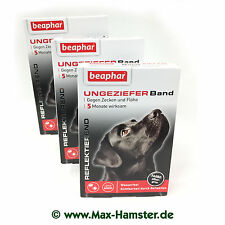 Beaphar 3 Packs Vermin Band Dog Ticks Flea Collar Reflective 5 Month Protection