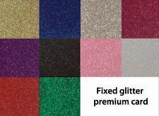 A4 Glitter Card ** Fixed Glitter ** Premium Stock ** Choose Colour ** Free Post