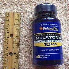 Super Strength Melatonin, from Puritan's Pride.  60 capsules, 10 mg each