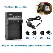 Mains& Car Battery Charger for Sanyo DB-L20 DB-L20AU Xacti VPC-CG65 VPC-CG9
