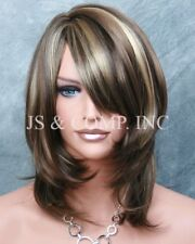 Wonderful straight layered Brown Blonde mix Full wig JSDD 8-12-24 Hair Piece