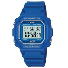 Casio F-108WH-2AEF Collection Blue Alarm Chrono Watch RRP £22