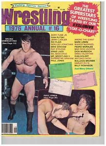 Sports Wrestling 1976 #16 Annual Magazine WWF ladies NWA Jones Lawler Inoki AWA
