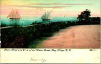 Bay Ridge NY Shore Road Water front view Postcard used (12655)