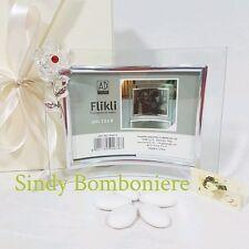 Bomboniera CONFEZIONATA in scatola portafoto CORNICE con fiore 94676 matrimonio