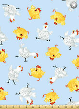 Fat Quarter Susybee Pippa The Hen Chicken All Over Cotton Quilting Fabric