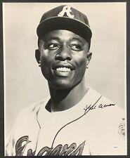 Hank Aaron Signed Photo 16x20 B&W Portrait Baseball Autograph Braves HOF JSA