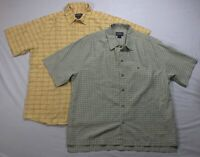 5290 LOT Of 2 WOOLRICH Mens XLarge Short Sleeve Button Up Down Shirts Plaid