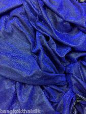 """ROYAL BLUE GLITTER METALLIC 2W STRETCH FABRIC 60""""W DANCE WEAR SCARF DRAPE CLOTH"""