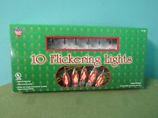 Candle Indoor/Outdoor Flicker Light Set Christmas Holiday Tree Decor Green Wire