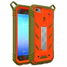 POETIC Revolution ShockProof Rugged case for Apple iPhone 6S/6 Orange/Dark Green