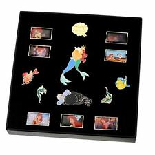 The Little Mermaid Pin Box Ariel Set 30th Anniversary Disney Store 14 Pins new