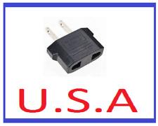 Euro to US Power Adapter/Convertor/Wall Plug/Travel/European/USA/Europe/B-15
