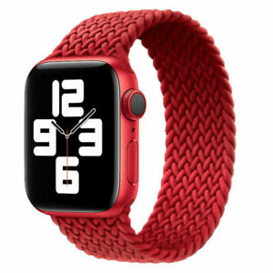 Braided Solo Loop Strap Elastic For Apple Watch Series SE 7 6 5 4 3 iWatch Band