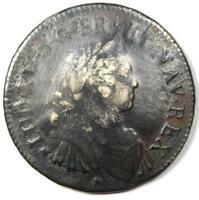 1725 France Louis XV Ecu Silver Coin - VF Details - Rare Early Coin!
