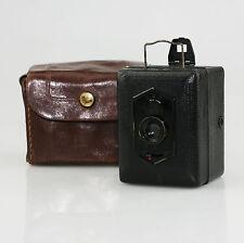 ZEISS Ikon baby-box tengor 54/18 (e) FOTOCAMERA c.1930-34 CON CUSTODIA ORIGINALE (KZ32)
