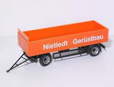 1:87 EM3090 Herpa 2achs Anhänger Baustoff Nietied für Umbau Eigenbau NEU TOP