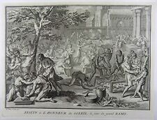 Bernard Picart (1673-1733) - Inca Festival to the Sun - Inti - 1727