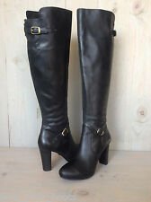 UGG ADYSON BLACK LEATHER TALL KNEE HIGH   SEXY BOOTS WOMENS US 9 eu 40  NEW