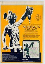 Berlioz Benvenuto Cellini vintage 1972 Poster Advert Colin Davis Philips