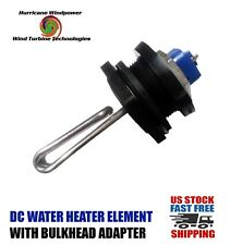 DC Water Heater Element 12 Volt  65 Watt w/Bulkhead Adapter Solar Water Heating