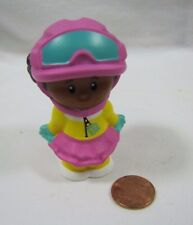 New Fisher Price Little People AFRICAN AMERICAN GIRL TESSA SNOWBOARDER SKIER