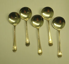 "5 Whiting Madam Morris Sterling Silver Chocolate Spoons 4"" 1.87 Toz No Monograms"