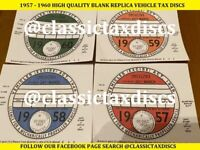 Classic Car Road Tax Discs replica 1957 - 1960 MORRIS MINI AUSTIN MINOR ESCORT
