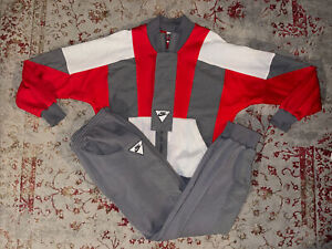 Vintage Nike 2 Piece Sweatsuit Red & Gray Size M