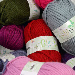 King Cole Big Value Super Chunky 100g ball 100% Acrylic Knitting Wool Yarn